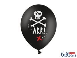 Ballonnen Piraten - 6 stuks