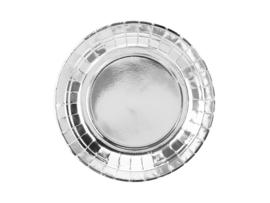 Bordjes zilver 18cm - 6 stuks