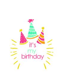 Traktatielabel  It´s my birthday