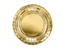 Bordjes goud 18cm - 6 stuks