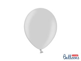 Ballonnen zilver metallic - 10 stuks