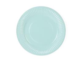 Bordjes turquoise - 6 stuks