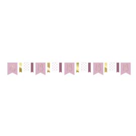Nijntje slinger roze/goud - 4 meter
