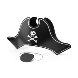 Piraten hoed met ooglapje