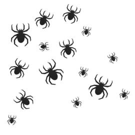 Halloween Spinnen wand decoratie