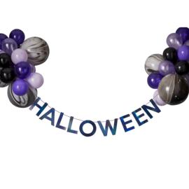 Halloween decoratie set slinger+24 ballonnen