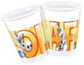 Frozen Olaf bekertjes - 8 stuks