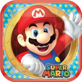 Super Mario gebaks bordjes 17cm