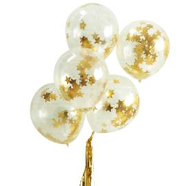 Confetti ballonnen met gouden sterren