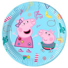Peppa Pig  Feest bordjes - 8 stuks