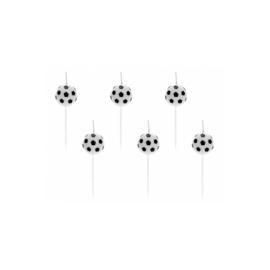 Verjaardagskaarsjes Voetbal - 6 stuks
