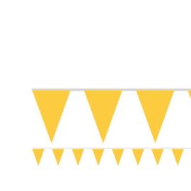 Vlaggenlijn geel 4,5 meter