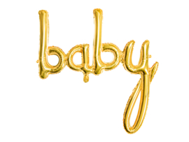 Tekst ballon goudkleurig Baby