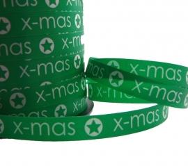Lint X-MAS donker groen 5 meter