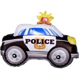 Redders op de weg folieballon politie auto