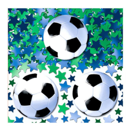 Voetbal tafel confetti