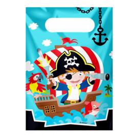 Uitdeelzakjes Piraat 8 stuks