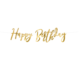 Happy Birthday slinger goud