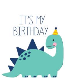 Traktatielabel Dino it's my birthday