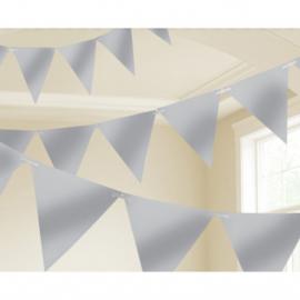 Vlaggenlijn zilver 4,5 meter