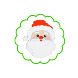 Ronde sticker kerstman-10 stuks