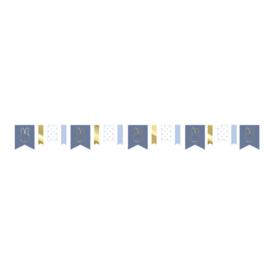 Nijntje slinger blauw/goud - 4 meter
