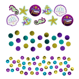 Zeemeermin Mermaids wishes tafel confetti