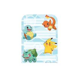 Pokemon feestje uitnodigingskaartjes 8 stuks
