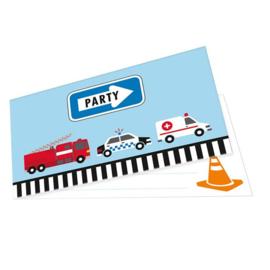 Redders op de weg uitnodigingskaartjes