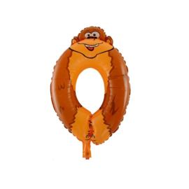 Cijferballon dier 0