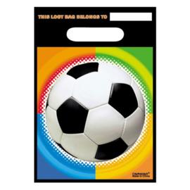 Uitdeelzakjes Voetbal 8 stuks