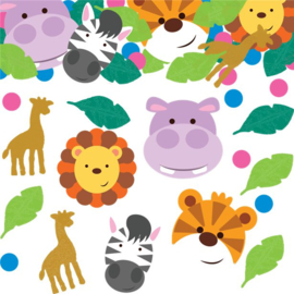 Jungle diertjes tafel confetti