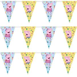 Peppa Pig vrolijke Vlaggenlijn - 2,3 meter