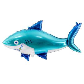 Folieballon Haai blauw XL