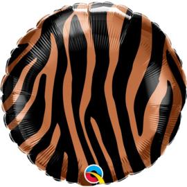 Tijger print folie ballon