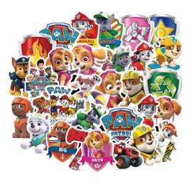 Paw Patrol figuur stickertjes - 10 stuks
