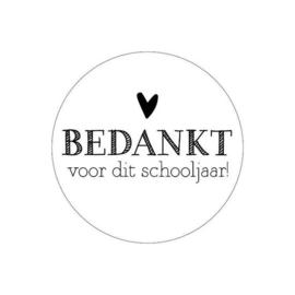 Sticker rond Bedankt voor het schooljaar - 5 stuks