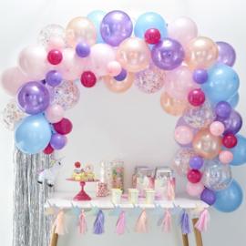 Ballonnenboog Pastel tinten - 80 delig