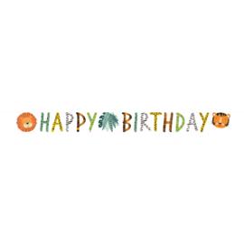 Jungle Get Wild letterslinger Happy Birthday