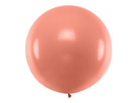 XXL ballon  rond rosé-goud metallic 1 meter