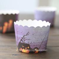 Cupcake bekertje Halloween - per stuk