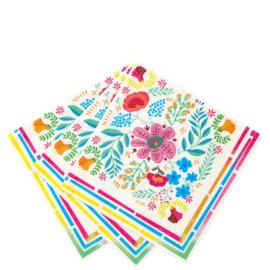 Floral Fietsta servetjes