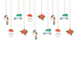 Kerst kado labeltjes A / gift tags 12 stuks