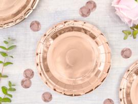 Bordjes rosé goud 18cm - 6 stuks