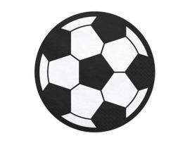 Voetbal servetjes  rond - 20 stuks