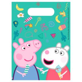 Peppa Pig uitdeelzakjes - 6 stuks