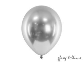 Ballonnen zilver glans - 10 stuks