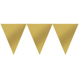 Vlaggenlijn goud 4,5 meter