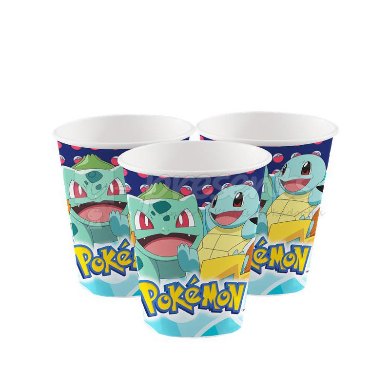 Pokemon drinkbekertjes - 8 stuks
