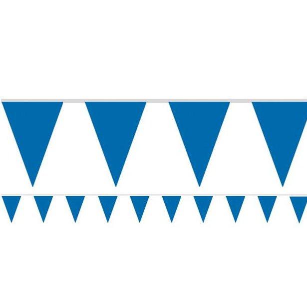 Vlaggenlijn blauw 4,5 meter